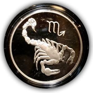 "3 рубля 2003 год ММД ""Знаки Зодиака.Скорпион"".Серебро"