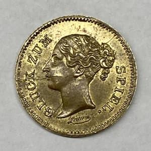 Игровой жетон Spiel Mark.19 век.Германия.Королева Виктория.Бронза.