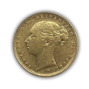 1 соверен 1886 год.Австралийский соверен.Австралия.Золото.
