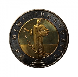 5 гривен биметалл 2000 год.Сеятель.На рубеже тысячелетий.Украина.