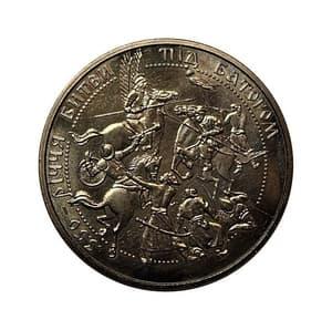 5 гривен 2002 год.Битва под Батогом-350 лет.Украина.