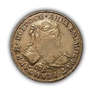 Копейка 1740 год СПБ.Анна Иоановна.Копия в бронзе.