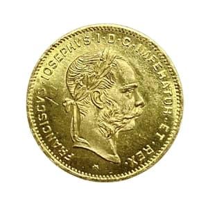 4 флорина (10 франков) 1892 год.Франц Иосиф I.Австро-Венгрия.
