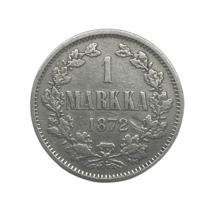 1 марка 1872 год S.Александр II.Русская Финляндия.Серебро.