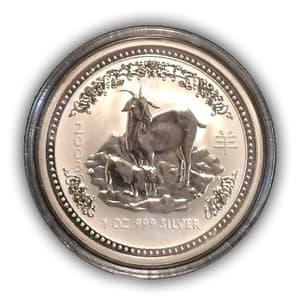 1 доллар 2003 год.Восточный гороскоп.Год козы.Австралия.Серебро.