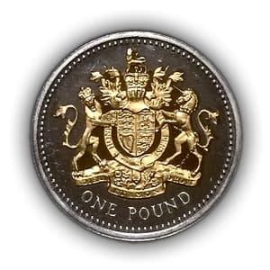 1 фунт 2008 год.Елизавета 2.Великобритания.Серебро, позолота.PROOF.