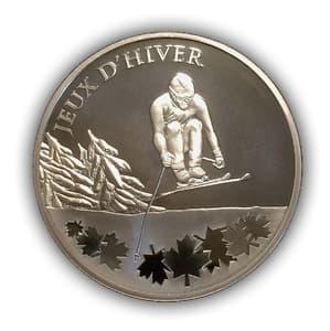 10 евро 2009 год.Олимпиада в Ванкувере.Зимние игры.Лыжи.Франция.Серебро.