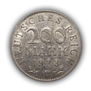 200 марок 1923 год.А.Германия.Веймарская республика.