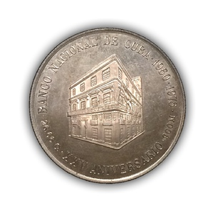 10 песо 1975 год.Куба.Серебро.