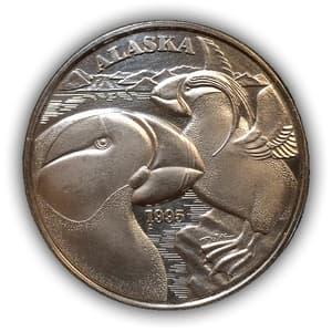 Жетон-медаль 1995 год «Штат Аляска».Серебро