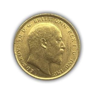 1 соверен (фунт) 1909 год.Эдуард VII.Великобритания.Золото.