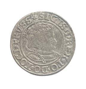 1 грош 1533 год.Сигизмунд I.Польша.Серебро.