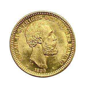 20 крон 1895 год.Оскар II.Швеция.Золото.
