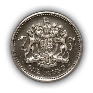 1 фунт 1993 год.Елизавета 2.Великобритания.Серебро.PROOF.