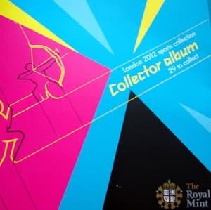 Набор из 29 монет в буклетах: 50 пенсов 2011 Летние олимпийские игры Лондон 2012.Буклеты с разными видами спорта.Великобритания.UNC.