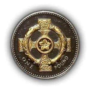 1 фунт 2008 год.Символика.Елизавета 2.Великобритания.Серебро, позолота.PROOF.