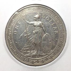 1 торговый доллар 1900 год.Великобритания.Серебро.