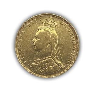 1 соверен 1889 год.Австралийский соверен.Австралия.Золото.