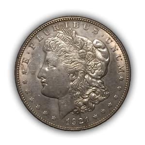 1 доллар 1921 год.Морган.США.Серебро.