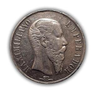 1 песо 1866 год.Мексика.Серебро.