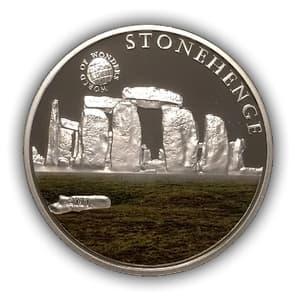 5 долларов 2010 год.Стоунхендж.Республика Палау.Серебро.