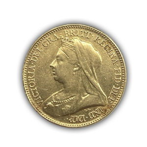 1/2 соверена 1893 год.Австралийский соверен.Австралия.Золото.