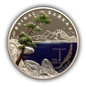 1000 франков 2011 год.Озеро Байкал.Бенин.Западная Африка.Серебро.