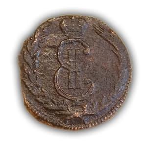 Деньга 1773 год.Екатерина lI.Сибирь.Медь.