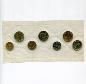 Набор годовых монет (регулярный выпуск ГКЧП) 1992 год ЛМД.Банковская запайка