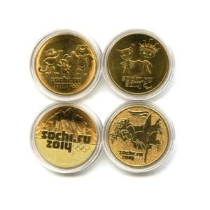 Набор монет 25 рублей Сочи 2014 в позолоте (4 вида)